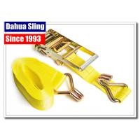 China Double J Hooks Roof Ratchet Tie Down Straps , 3 Inch Ratchet Straps USA Standards wholesale