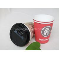 China Disposable Food Grade Single Wall Paper Cups PE Coated With Lids For Coffee / Tea wholesale