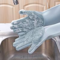 Buy cheap Custom Magic Heat Resistant Silicone Dishwashing Gloves With Wash Scrubber from wholesalers