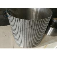 China SS 316L Wedge Wire Sieve Filters / Rotating Drum Screen 520 Mm Dia wholesale