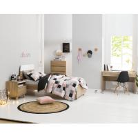 China Apartment Furniture Space Saving Bedroom Modern Design of Single Bed with Nightstand in Fashion interior Desk wholesale