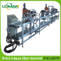 China PLSS-8 Square type air filter double automatic glue injection machine PU air filter making machine on sale