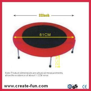 "China CreateFun 32"" mini spring fitness trampoline wholesale"
