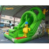 China 0.55mm PVC Tarpaulin Green Sheep and Dog Commercial Inflatable Slide for Entertainment wholesale