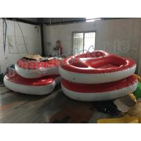Screen Printing Inflatable Water Toy , 4m Diameter 2 Seats PVC Inflatable Boat
