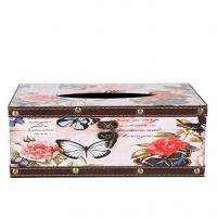 China Vintage Wooden Tissue Box Butterfly Tissue Cover Holder Functional Cute Tissue Paper Dispenser Bath Kitchen wholesale