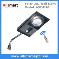 China 30W Solar LED Wall Light Motion Activated Infrared Sensor Solar Garden Light with Bracket Arm Pole Remote Control wholesale