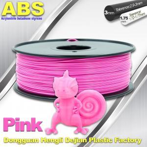 China 1767C Pink Plastic Filament For 3D Printing Consumables Filament wholesale
