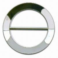 China Round Belt Buckle, Made of Znc Alloy, with Black and White Epoxy, 2-inch Inside wholesale
