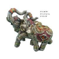China Polyresin Elephant Statue Home Decoration (XY11-60022B) wholesale