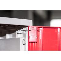 Corrosion Proof ABS Plastic Lockers Red Door 5 Tier Lockers With Clover Keyless