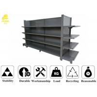 China Double Side Supermarket Steel Racks With Columns , Back Panel , Top Spacer wholesale