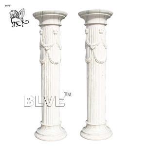 China Marble Column Pillar  Ancient Greek Stone Garden Isolated White wholesale