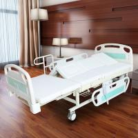 China Medical Electric Full Size Adjustable Bed For Elderly White Color wholesale