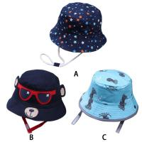 China ACE new brand custom private brand cotton with digital printed baby bucket hat cap upf 50+ wholesale