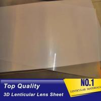 China High quality 51X71CM 0.25MM PET Lenticular Lens Film sheet lenticular lenses  for 3d lenticular printing service Baharin wholesale