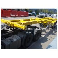 China Container chassis trailer , skeleton semi trailer 3 axles 20ft and 40ft with warranty and parts wholesale