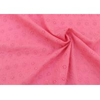 Buy cheap OEM Embroidery Eyelet Cotton Dying Lace Fabric With Floral Circle Pattern For Top from wholesalers