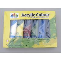 China 6 X 75ml Acrylic Paint Tubes Acrylic Paint Starter Colors Set For Wood / Paper / Glass wholesale