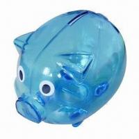 China Plastic Pig Money Bank, Customized Logos are Welcome wholesale
