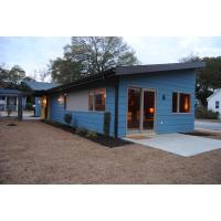 China Wooden Plastic Decorate Modular Homes , Prefabricated Bungalow Homes on sale