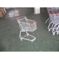 China Plastic Supermarket Folding Shopping Carts With Swivel Casters wholesale