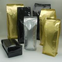 China Silver Gold Foil Pouch Packaging for Dried Fruit , Snack , Tea , Coffee wholesale