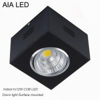 China IP42 black indoor surface adjustable COB 12W Ceiling down light&LED Grille light wholesale