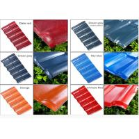 China Color Coated Corrugated Pvc Synthetic Resin Roof Tile Spanish Style 1050mm Width wholesale