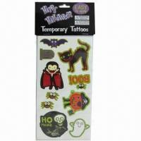China Temporary Halloween Tattoo, Nontoxic and Safe, Promotional Used on sale