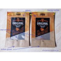 China Snack Food Packaging Poly Bags , Laminated Brown Craft Paper Bags wholesale