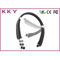 China Internal Microphone Foldable Bluetooth Headphones With Neckband / Sport Style wholesale