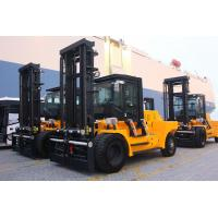 China High Efficiency Diesel Forklift Truck Yellow Color Variable Speed Control wholesale