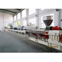 China PP Caco3 Twin Extruder Machine 500-600kg/H , Master Batch Manufacturing Machine wholesale