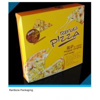 China Yellow Attractive Paper Packaging Boxes Customized Logo For Pizza Packaging wholesale