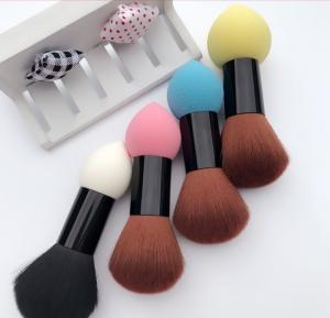 China Double Head Cosmetics Blush Brush , Makeup Foundation Brush Powder Puff wholesale