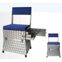 China Aluminum Fishing Seat Boxes with Back Rest and 3 Side Alum. Drawers STBX012 wholesale