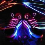 China Promotional LED Shoelaces with Long Light, Flash and Slow Flash Modes wholesale