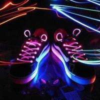 Quality Promotional LED Shoelaces with Long Light, Flash and Slow Flash Modes for sale