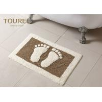 China Bulge Big Feet  Icon Many Hotel Bath Mats Homor Design With Polyester Coral wholesale
