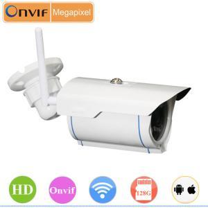 China 1280 x 720 pixels Infrared Bullet 720P 1 Megapixel IP Camera wholesale