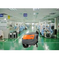 China Two 13 Inch Brush Dynamo Battery Operated Floor Scrubber , Electric Walk Behind Floor Cleaners wholesale