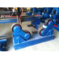 China Blue Rubber Adjustable Welding Rotator , Pipe Rotators For Welding 10000kg on sale