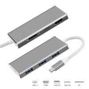 China High Quality New Mini Aluminum USB Type C To USB3.0 HD PD Multi Hub on sale