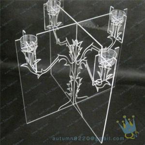 China CH (21) wholesale Acrylic candle holder wholesale