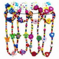 China Childrens' Jewelry Set with Earrings, Necklace and Bracelet, Made of Plastic Material wholesale