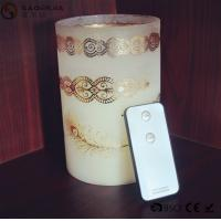 China Personalized Party / Event Paraffin Wax Candles In Prinnted Glass Jar wholesale