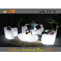 China Modern LED Sofas sets Recharge battery , Glowing sofa chair wholesale