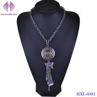 China Fashion Jewelry Bohemia Ethnic Style Long Tassel Pendant Chain Necklace For Women wholesale