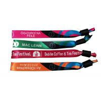 China Printed Logo Woven Cloth Wristbands 15mm*350mm Size Outstanding Durability wholesale